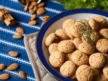 Amaretti almond biscuits Stock Image