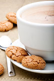 Amaretti biscuits and cappuccino Royalty Free Stock Image