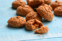 Amaretti biscuits on the table Stock Photography