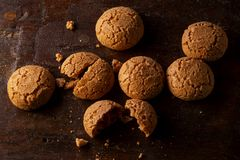 Amaretti bisquits view from above royalty free stock images