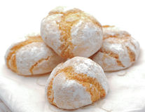 Amaretti, italian macaroon  biscuits Stock Photo