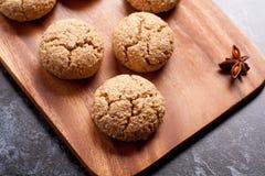 Amaretti italiano del biscotto di mandorla fotografia stock libera da diritti