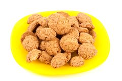 Amaretti - traditional italian cookies Stock Image