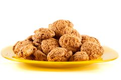 Amaretti - traditional italian cookies Stock Photos