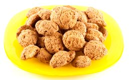 Amaretti - traditional italian cookies Stock Images