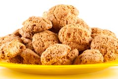 Amaretti - traditional italian cookies Stock Photo