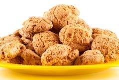 Amaretti - traditional italian cookies Stock Photo