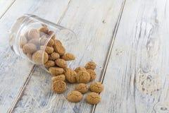 Amarettini cookies in a glass Stock Image