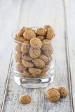 Amarettini cookies in a glass Royalty Free Stock Images