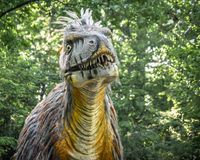 Amargasaurus Dinosaur - Milwaukee County Zoo royalty free stock photos
