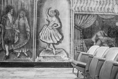 Amargosa operahus och hotell Arkivbilder