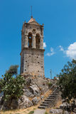 Amari Valley. Bell tower of town of Amari in the Amari Valley, Crete, Greece Stock Photo