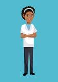 Amarican afro da mulher do doutor ilustração do vetor