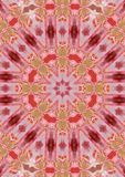 Amarilis mandala. Flower mandala from amarilys Royalty Free Stock Images