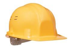 Amarillee el casco Imagen de archivo libre de regalías