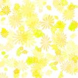 Amarillee el papel del regalo de la flor Imagen de archivo