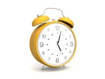 Amarillee el reloj de alarma 3d Fotos de archivo