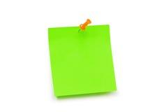 Amarillee la nota de la etiqueta engomada aislada Foto de archivo libre de regalías