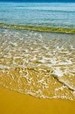 Amarillee la playa Imagenes de archivo