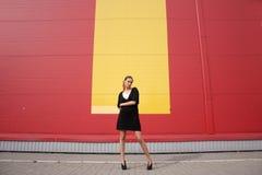 Amarillee la raya - horizontal Fotografía de archivo