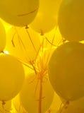Amarillee los globos Fotografía de archivo