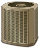 Amarillento de condicionamiento de la unidad del acondicionador de aire Foto de archivo