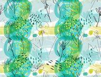 Amarillo áspero bosquejado del verde de la flor del diente de león Imagenes de archivo