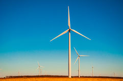 Amarillo światła słonecznego Wiatrowy gospodarstwo rolne Zachodni Teksas Zdjęcia Stock