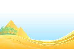 Amarillo abstracto de la palma del viaje de Egipto de la pirámide del fondo Fotografía de archivo libre de regalías