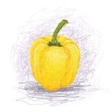 Amarillo-alarma-pimienta Fotos de archivo libres de regalías