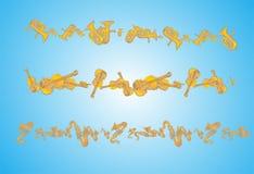 Amarillo azul del arte del abstrack de la música de fondo Foto de archivo