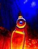 amarillo azul del extracto del diseño de la cuerda ilustración del vector