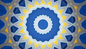 Amarillo azul gris del efecto caleidoscópico libre illustration