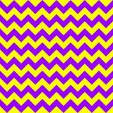 Amarillo colorido del diseño geométrico de las flechas del vector del modelo de zigzag de Chevron y púrpura inconsútiles Fotos de archivo