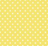 Amarillo con los puntos de polca blancos Fotografía de archivo libre de regalías