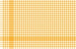 Amarillo a cuadros del modelo de los manteles Imagen de archivo libre de regalías