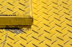 Amarillo de acero del fondo Fotos de archivo libres de regalías