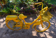 Amarillo de la bicicleta Foto de archivo