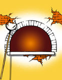 Amarillo de la estufa Stock de ilustración