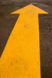 Amarillo de la flecha fotos de archivo libres de regalías