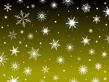 Amarillo de la frontera de la nieve ilustración del vector