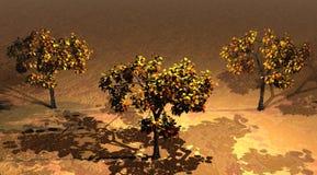 Amarillo de los árboles Fotos de archivo