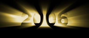 Amarillo del año 2006 ilustración del vector