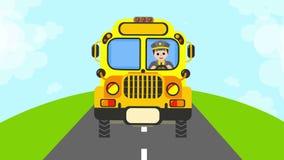 Amarillo del autobús escolar stock de ilustración