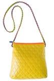 Amarillo del bolso de las mujeres Aislado Fotos de archivo libres de regalías