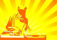 Amarillo del disc jockey Foto de archivo