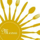 Amarillo del diseño del menú del restaurante Fotografía de archivo libre de regalías