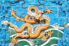 Amarillo del dragón Fotografía de archivo