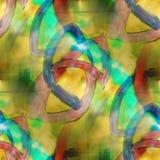 Amarillo del extracto de la textura del fondo del chapoteo del arte, stock de ilustración