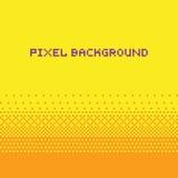 Amarillo del fondo de la pendiente del vector del estilo del arte del pixel Fotos de archivo libres de regalías